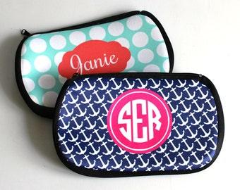Monogrammed Cosmetic Bag - Makeup Bag - Pencil bag