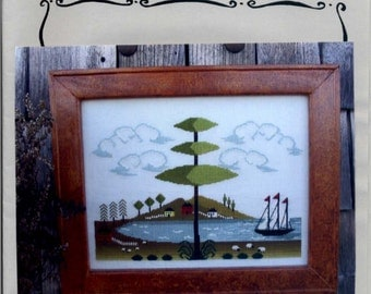 By the Bay Needleart: 13th Colony Bay - Part 1 - Cross Stitch Pattern