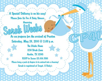 Special Delivery Baby Shower Invitations Boy or Girl