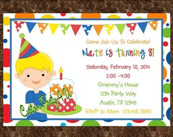 Birthday Boy Invitations