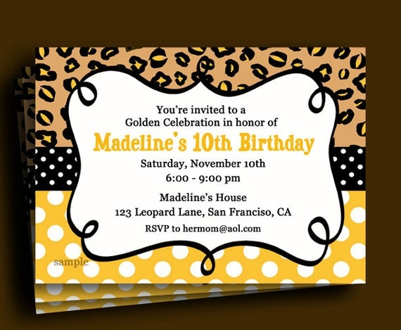 Golden Birthday Invitation Printable or Printed with FREE – Golden Birthday Invitation