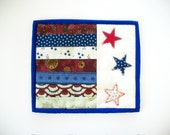 Patriotic Candle Mat Mug Rug Coaster Quilted Fourth of July