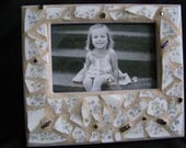 4 x 6 Pottery Mosaic Frame with Glass beads