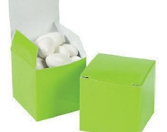 Lime Green Favor boxes-12 EA.