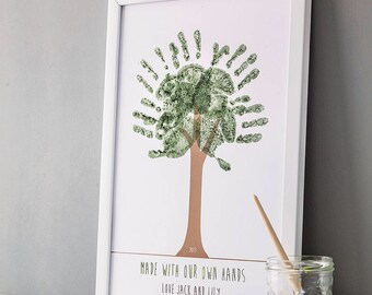 Personalised Handprint Tree Poster with Ink Pad/s