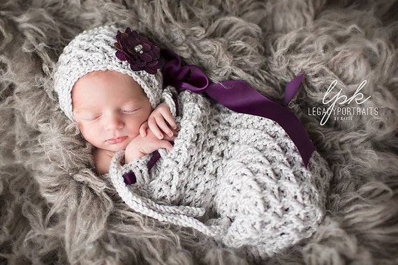 Free Crochet Pattern For Preemie Cocoon : Crochet Pattern for Kylie Cocoon Size preemie to 6 months