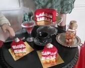 Halloween Miniature Blood layer cake 1:6 Scale vampire spooky doll food Barbie Fashion Royalty GI Joe