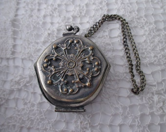 antique german silver coin purse, Victorian -  ornate, floral, 1900s