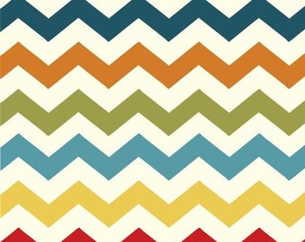 ADORNit Fabrics - Chevron in Multi - Basics Collection - By The Yard