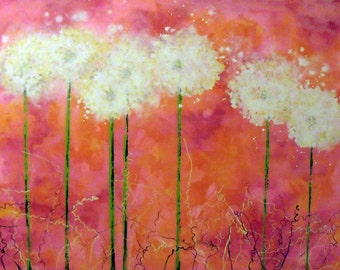 Soft Dandelion Art - Pink wishes art print