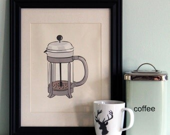 Coffee Press Print 8.5x11 or 8x10