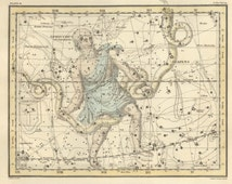 Astronomy Decor, Astronomy Print, Celestial Astronomy, Map of the constellations, astrologer, constellation galaxy, #36