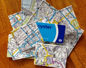 SALE - Central London Map Oyster Card Holder