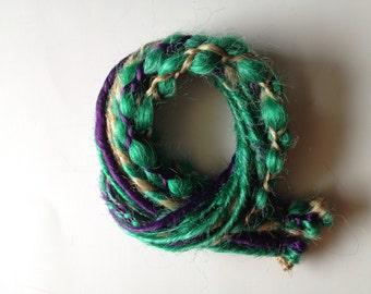 15 SE Single End Synthetic Dreads Braid in Dreadlock Hair Extensions Mint Seafoam Green Purple Blonde