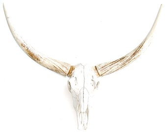 XL Faux Steer Skull - Xtra Large Replica Cow Steer Skull Home Decor - Faux Taxidermy XLS00