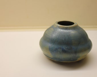 Small Blue Green Bud Vase # E9