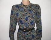 Warmer Woolen Dress Vintage / Size EUR46 / UK18