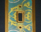 RESERVED for JERRA, 2 Light switch covers, Moroccan inspired