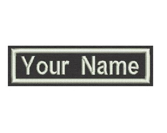 "Rectangular Name Patch  - Sew on or Iron On 4"" x 1"""