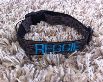 Personalized Dog Collar - Camo