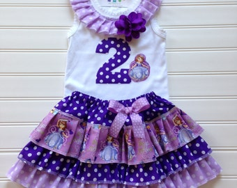 Custom Boutique Princess Dress Birthday Dress Number Dress Princess Skirt Princess Girl Tops Princess Party Kids Available Sizes 2 through 8