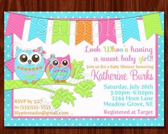 Owl Baby Shower Invitation (printable)