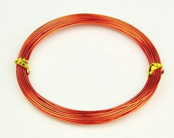 Aluminum Wire Dark Orange.8mm 10 meters (10.93 yards)