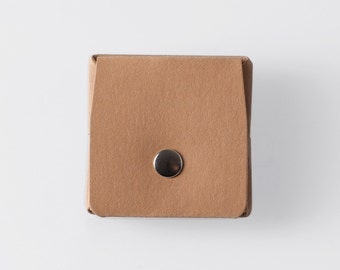 Square Origami Washable Paper Coin Purse in Sahara Camel / Vegan Purse