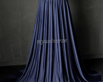 Maxi Skirt Full Length Skirt Navy Blue Long Skirt Jersey Skirt Girl Ladies Women Skirt Christmas Gifts Idea