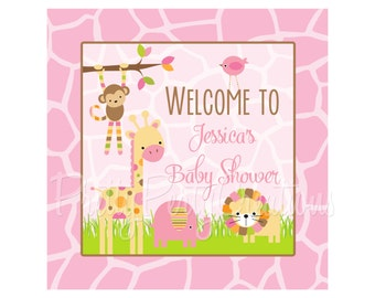 candy land welcome sign 8x8 you print 2 to choose dots. Black Bedroom Furniture Sets. Home Design Ideas