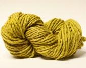 Super Bulky Yarn  Single Ply sp Hand dyed Merino 44sp13016 Mustard