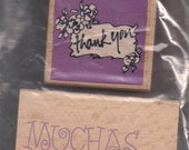 Group of 3-Mounted Rubber Stamps-Thank You Themed