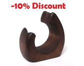 "10% DISCOUNT on Natural Ash-Tree Wood Pipe Stand Rack Hold Holder ""SNAIL""  for Tobacco Smoking Pipes NEW"