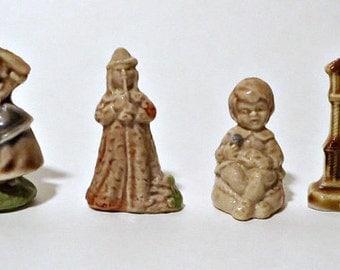 4 Vintage Wade Figurines Nursery Rhymes Red Rose