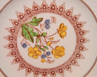 Spode BUTTER CUP pattern lunch plate.Extremely RARE #2  made plate. butter dish. Copeland England porcelain.Holiday House warming gift
