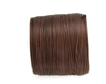 Brown Polyester Thread, Brown Waxed Cord, Macrame Cord, Waxed Polyester Thread, Brown Waxed Polyester Cord  (0.8mm) 10m -11yards S 40 008