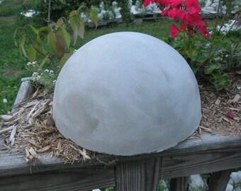 """Concrete 12 """" Garden  1/2 Sphere"""