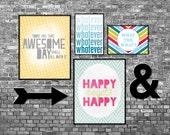 Customizable Digital Art Prints - 4 Posters 8x10/5x7