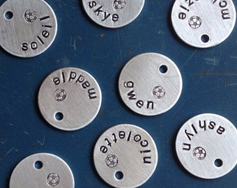 For your team- custom soccer tags, charms