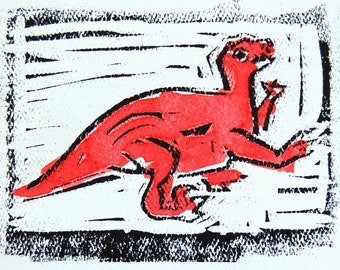 Raptor Dinosaur Card