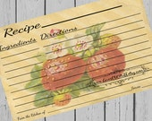 Strawberry Recipe Cards 4x6 Printable Strawberries Recipe Card 3 Sizes 3x5 Berry Recipe Card 3.5x5 Instant Download