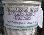 Laundry Soap Powdered Homemade 1 one Pint Mason Jar