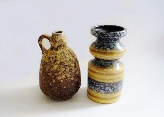 2 Vintage German Vases Ruscha and VEB Haldensleben