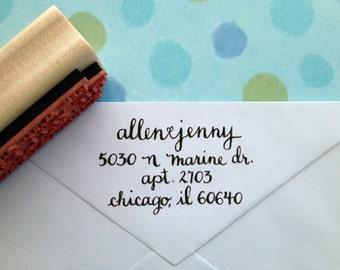 Scripty Hand-Calligraphy Rubber Return Address Stamp