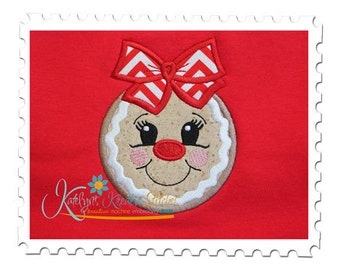 Gingerbread Girl Applique Head