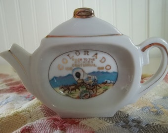 Tea Pot Tea Bag Holder   Colorado 1959 Centennial    Souvenir Collectible