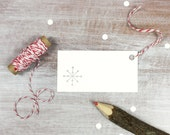 10 Letterpress Holiday Christmas Gift Tags // Snowflake in Silver