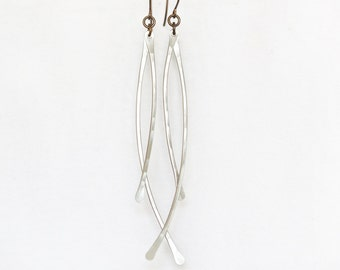 Wind Chimes / Simple Earrings / Delicate / Silver Earrings / Simple Jewelry / Gift for Her / Unique Earrings / Birthday for Her