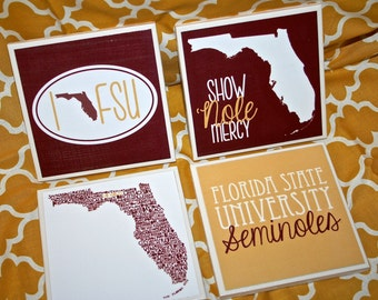 4 Florida State Seminoles Coasters