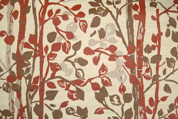 1970's Retro Wallpaper - Branches and Leaf Silhouette Vintage Wallpaper